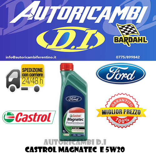 1 lt olio motore castrol magnatec professional 5w20 ford. Black Bedroom Furniture Sets. Home Design Ideas